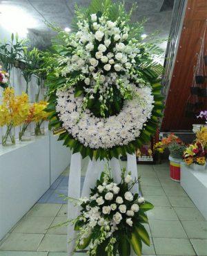 lẵng hoa dâng hương