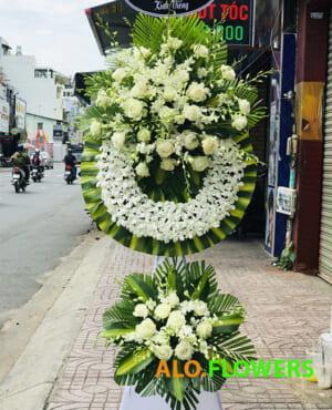 hoa chia buồn vòng hoa tang lễ
